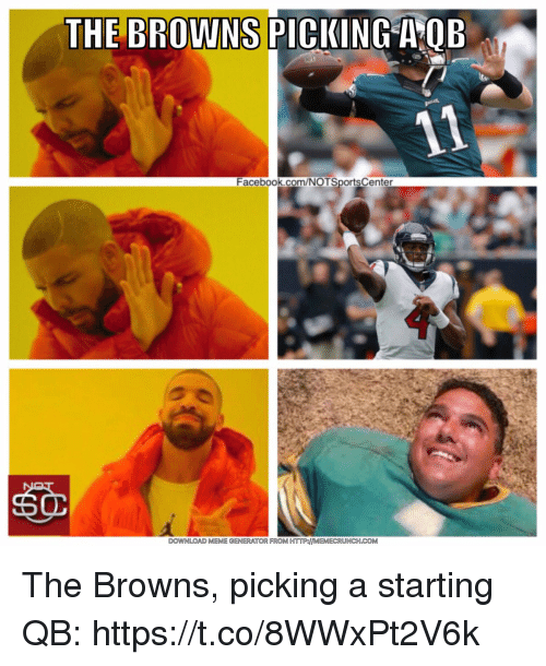 Facebook, Sports, and Browns: THE BROLKNNS  Facebook.com/NOTSportsCenter The Browns, picking a starting QB: https://t.co/8WWxPt2V6k