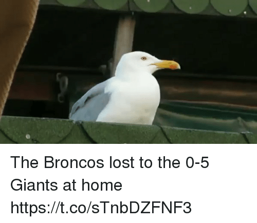 Tom Brady, Lost, and Broncos: The Broncos lost to the 0-5 Giants at home https://t.co/sTnbDZFNF3