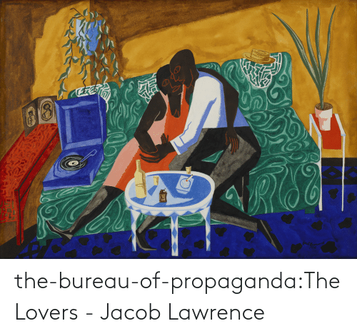 jacob: the-bureau-of-propaganda:The Lovers - Jacob Lawrence