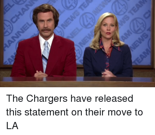 Football, Nfl, and Sports: The Chargers have released this statement on their move to LA