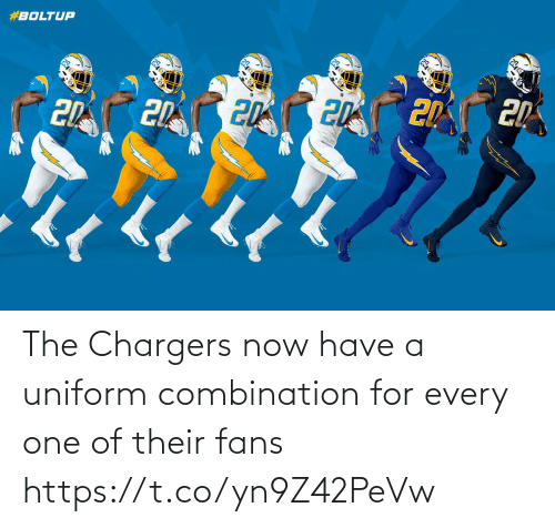 fans: The Chargers now have a uniform combination for every one of their fans https://t.co/yn9Z42PeVw