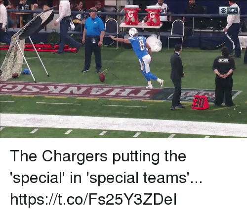 Football, Nfl, and Sports: The Chargers putting the 'special' in 'special teams'... https://t.co/Fs25Y3ZDeI