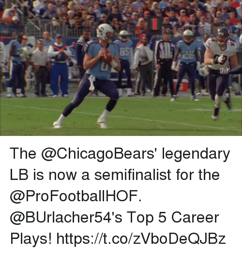 Memes, 🤖, and Top: The @ChicagoBears' legendary LB is now a semifinalist for the @ProFootballHOF.  @BUrlacher54's Top 5 Career Plays! https://t.co/zVboDeQJBz