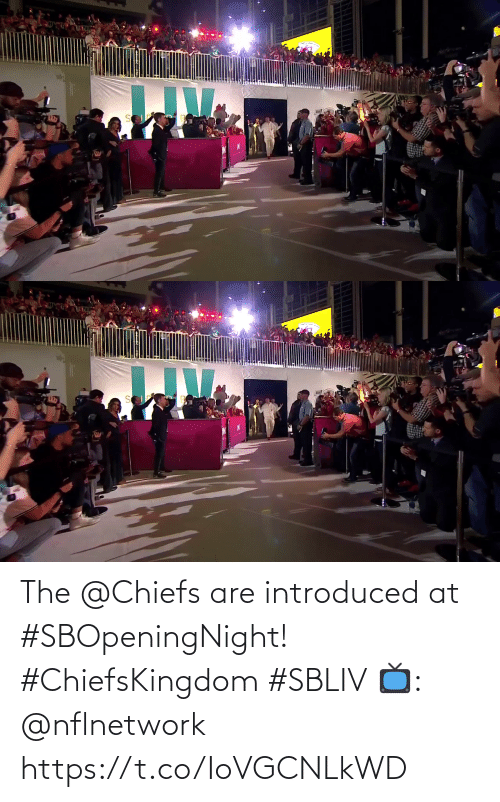 Chiefs: The @Chiefs are introduced at #SBOpeningNight! #ChiefsKingdom #SBLIV  📺: @nflnetwork https://t.co/IoVGCNLkWD