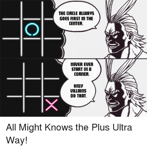 neuer: THE CIRCLE ALWAVS  GOES FIRST n THE  CENTER  NEUER EUER  START In A  CORNER  onLv  VILLAINS  DO THAT All Might Knows the Plus Ultra Way!