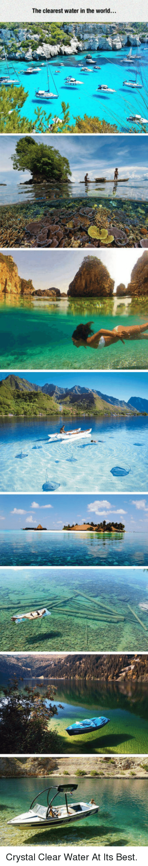 clear water: The clearest water in the world... <p>Crystal Clear Water At Its Best.</p>