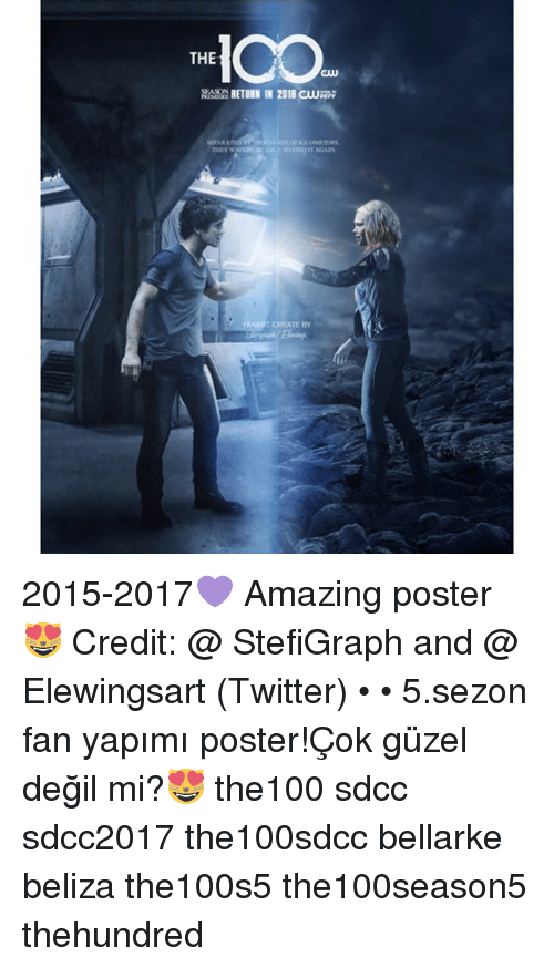 Memes, Twitter, and Amazing: THE  CLU  MMP RETURN IN 2018 CLU  MPARA  CREATE BY 2015-2017💜 Amazing poster😻 Credit: @ StefiGraph and @ Elewingsart (Twitter) • • 5.sezon fan yapımı poster!Çok güzel değil mi?😻 the100 sdcc sdcc2017 the100sdcc bellarke beliza the100s5 the100season5 thehundred