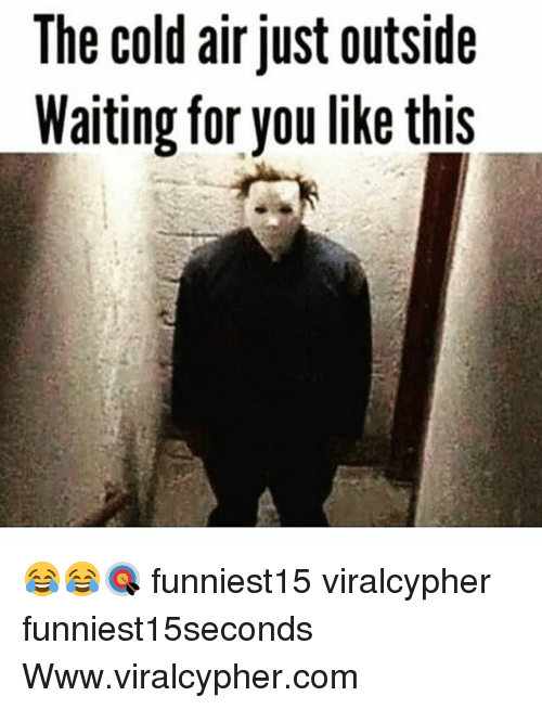 Funny, Cold, and Waiting...: The cold air just outside  Waiting for you like this 😂😂🎯 funniest15 viralcypher funniest15seconds Www.viralcypher.com