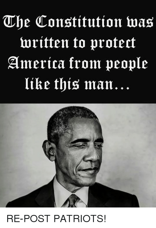 America, Memes, and Patriotic: The Constitution was  written to protect  America krom people  like this man... RE-POST PATRIOTS!