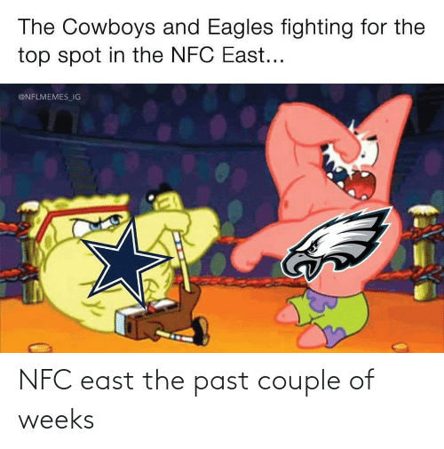 Nflmemes: The Cowboys and Eagles fighting for the  top spot in the NFC East...  @NFLMEMES_IG NFC east the past couple of weeks