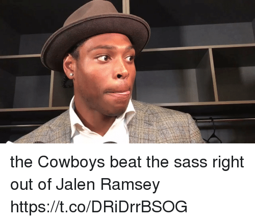 Dallas Cowboys, Nfl, and Sass: the Cowboys beat the sass right out of Jalen Ramsey  https://t.co/DRiDrrBSOG