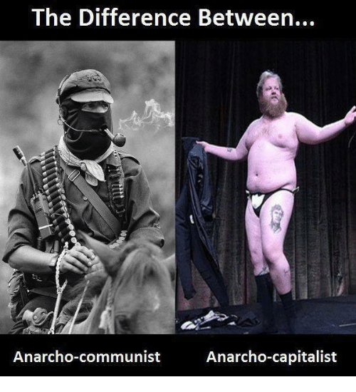 Anarcho Communist: The Difference Between...  Anarcho-communist  Anarcho-capitalist