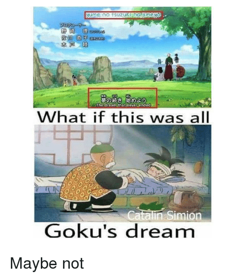 gokus: The dream that  never ended  What if this was all  Catalin Simion  Goku's dream Maybe not