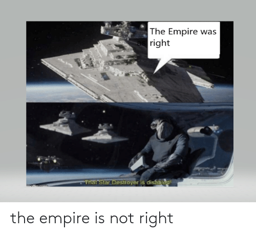 Empire: the empire is not right