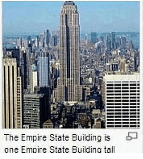 Empire: The Empire State Building is  one Empire State Building tall