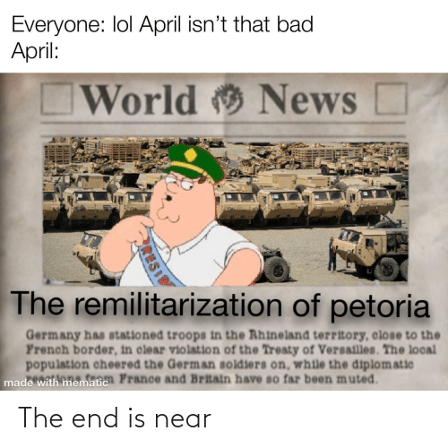 the end is near: The end is near