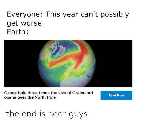 the end is near: the end is near guys