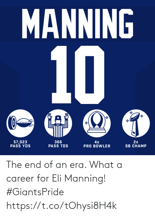 era: The end of an era. What a career for Eli Manning! #GiantsPride https://t.co/tOhysi8H4k