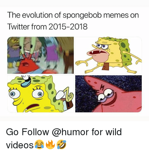 Memes, SpongeBob, and Twitter: The evolution of spongebob memes on  Twitter from 2015-2018 Go Follow @humor for wild videos😂🔥🤣