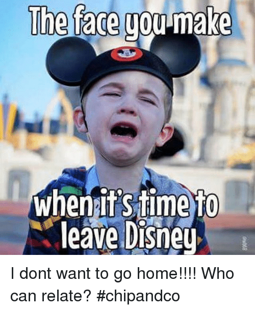Face You Make: The face you-make  whenitSiime To  leave Disney I dont want to go home!!!! Who can relate? #chipandco