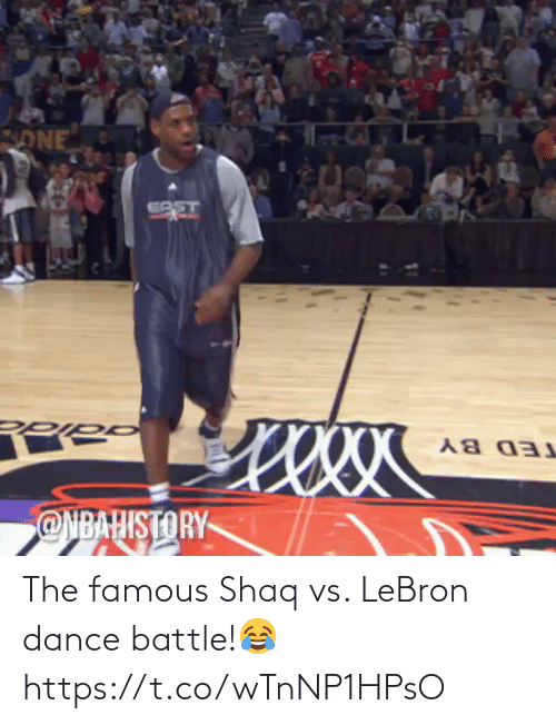 famous: The famous Shaq vs. LeBron dance battle!😂 https://t.co/wTnNP1HPsO