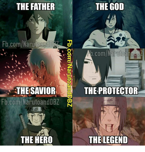 God, Memes, and fb.com: THE FATHER  THE GOD  Fb.com/ NarutoandD  .com/NarutoandD  3  THESAVIORTHE PROTECTOR  fb.com/NarutoandDBZ  THE HERO  THE LEGEND