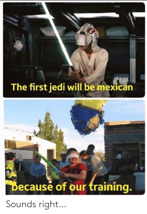 Mexican: The first jedi will be mexican  Decause of our training. Sounds right…