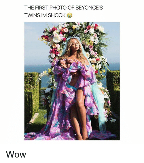Wow, Twins, and Girl Memes: THE FIRST PHOTO OF BEYONCE'S  TWINS IM SHOOK Wow
