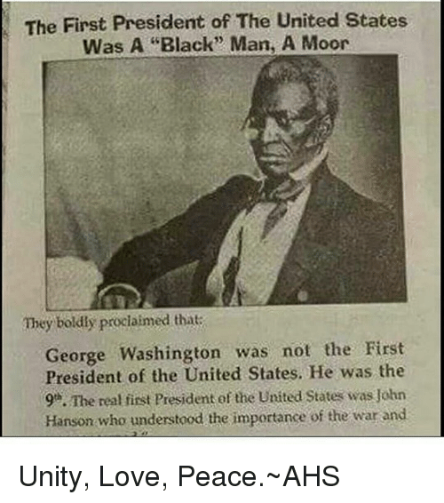 Washington was not the first president