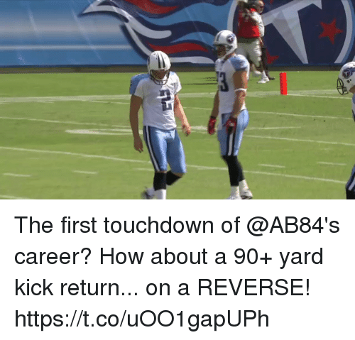 Touchdowners: The first touchdown of @AB84's career?  How about a 90+ yard kick return... on a REVERSE! https://t.co/uOO1gapUPh