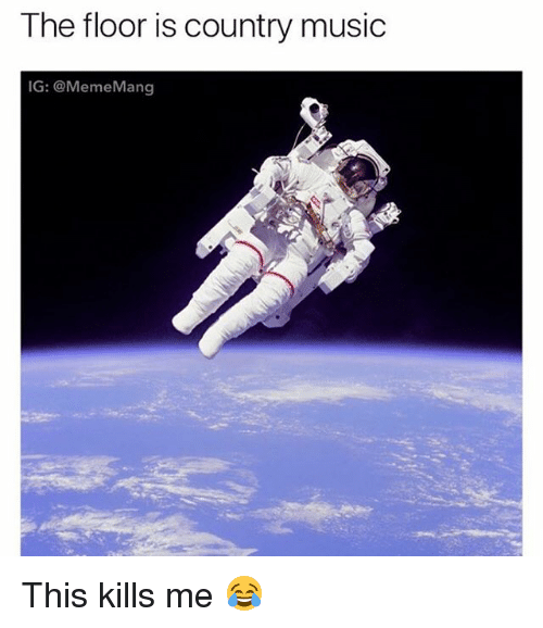 Memes, Music, and Country Music: The floor is country music  IG: @MemeMang This kills me 😂