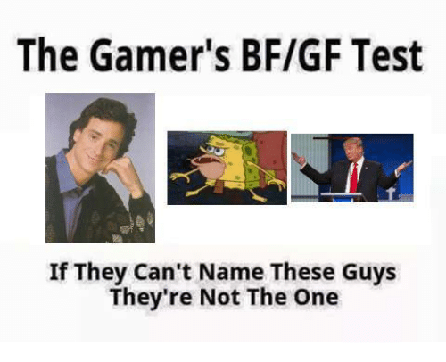 Test, Dank Memes, and The Gamer: The Gamer's BF/GF Test  If They Can't Name These Guys  They're Not The One