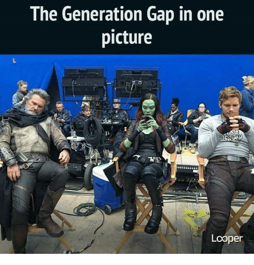 generation gap: The Generation Gap in one  picture  Looper