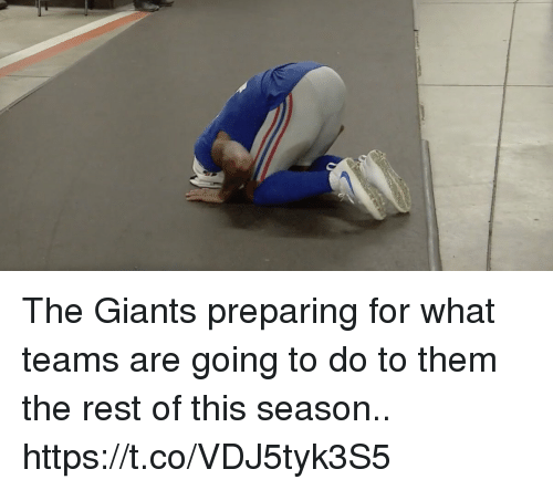 Football, Nfl, and Sports: The Giants preparing for what teams are going to do to them the rest of this season.. https://t.co/VDJ5tyk3S5