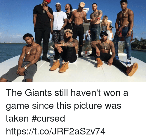 Football, Nfl, and Sports: The Giants still haven't won a game since this picture was taken #cursed https://t.co/JRF2aSzv74