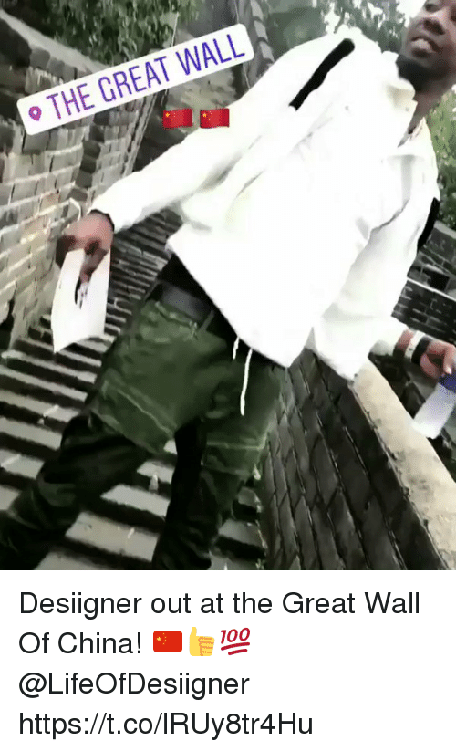 China, Desiigner, and Great Wall of China: THE GREAT WALL Desiigner out at the Great Wall Of China! 🇨🇳👍💯 @LifeOfDesiigner https://t.co/lRUy8tr4Hu