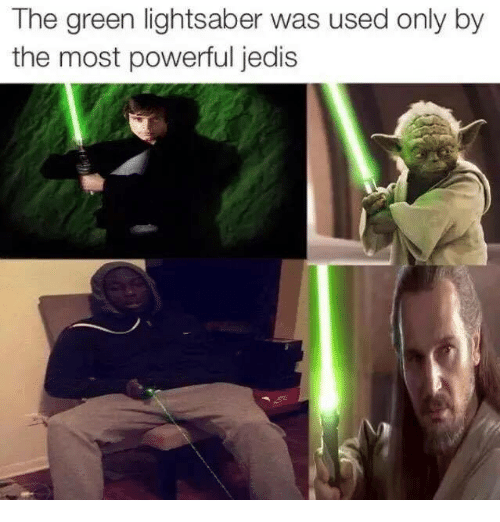 green lightsaber