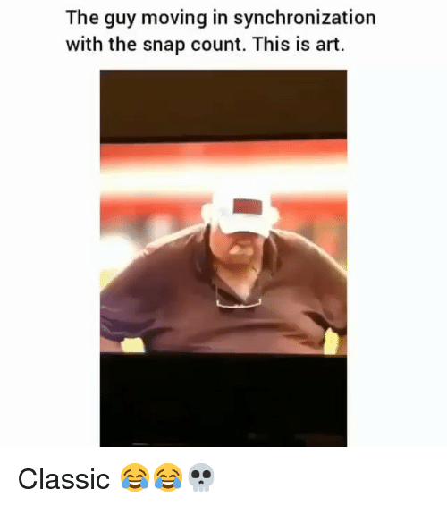 moving in: The guy moving in synchronization  with the snap count. This is art. Classic 😂😂💀