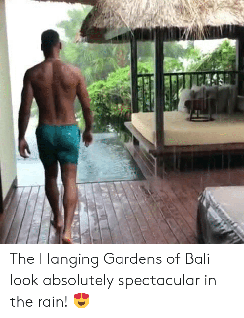 Bali: The Hanging Gardens of Bali look absolutely spectacular in the rain! 😍
