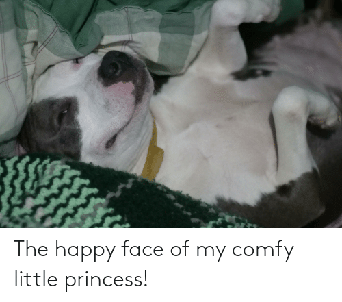 happy face: The happy face of my comfy little princess!