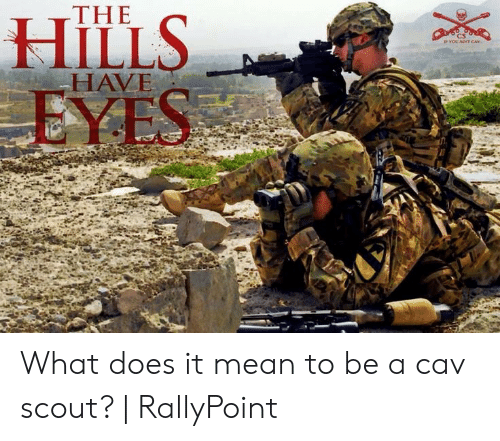 Rallypoint: THE  HAVE What does it mean to be a cav scout?   RallyPoint