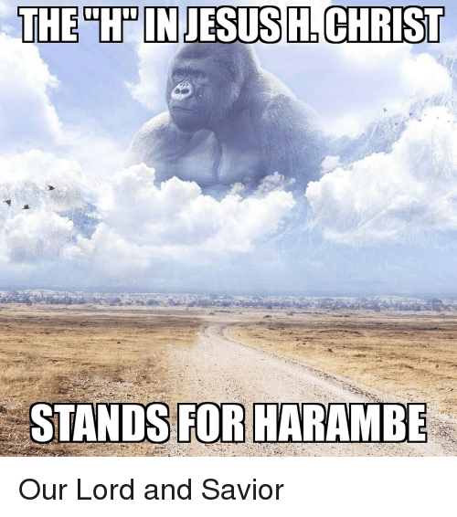 the hpon jesus christ stands for harambe our lord and 3917450 the hpon jesus christ stands for harambe our lord and savior