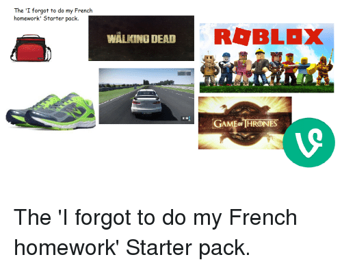 I do my homework french