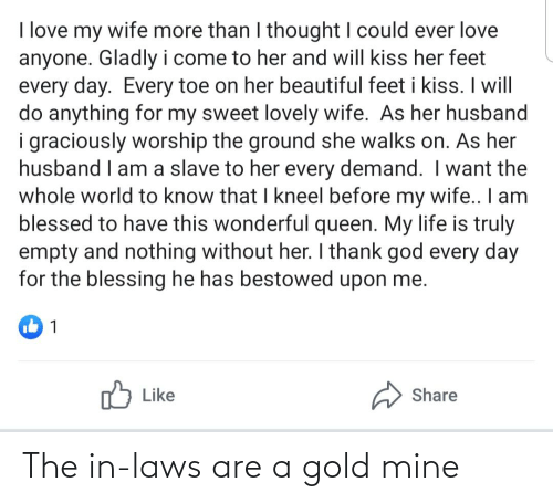 in laws: The in-laws are a gold mine