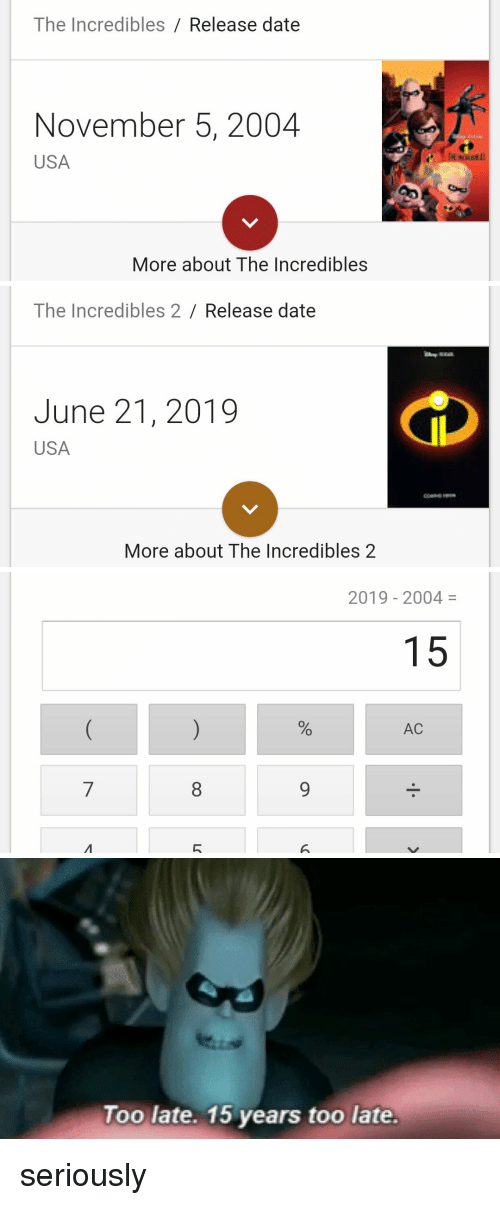 The incredibles 2 release date in Brisbane