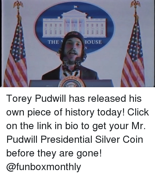Click, Silver, and Skate: THE  IOUSE Torey Pudwill has released his own piece of history today! Click on the link in bio to get your Mr. Pudwill Presidential Silver Coin before they are gone! @funboxmonthly