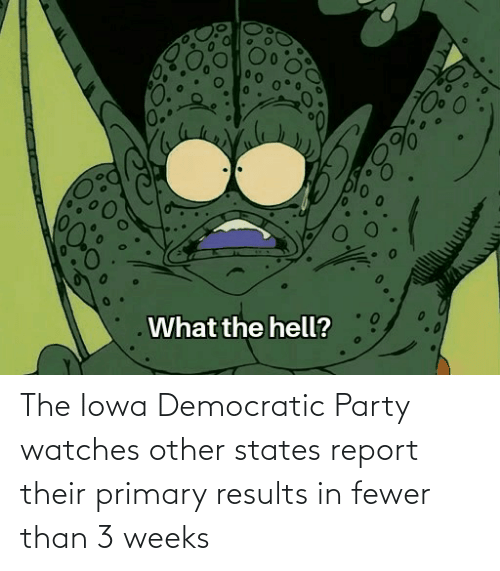 Democratic Party: The Iowa Democratic Party watches other states report their primary results in fewer than 3 weeks
