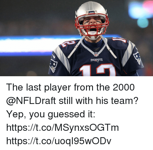 Memes, 🤖, and Player: The last player from the 2000 @NFLDraft still with his team?  Yep, you guessed it: https://t.co/MSynxsOGTm https://t.co/uoqI95wODv