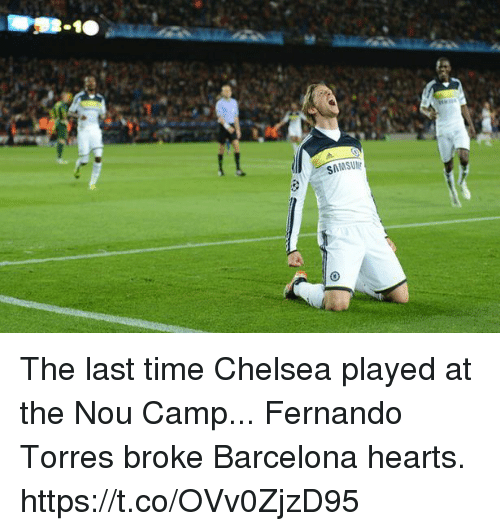 Fernando Torres: The last time Chelsea played at the Nou Camp... Fernando Torres broke Barcelona hearts. https://t.co/OVv0ZjzD95