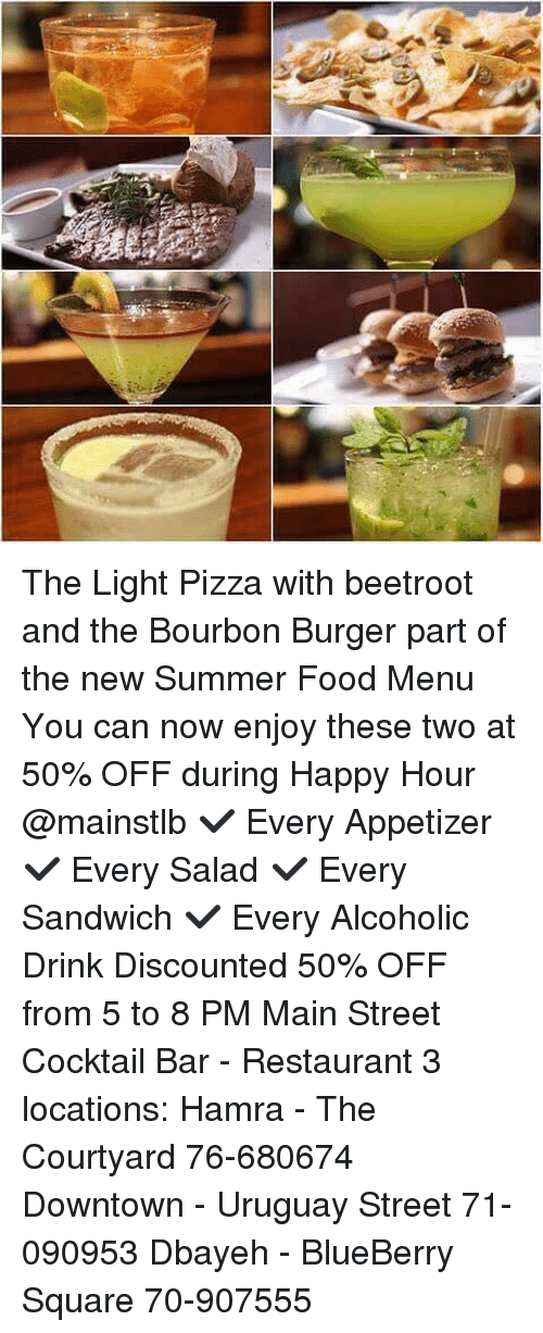 The Light Pizza With Beetroot and the Bourbon Burger Part ...